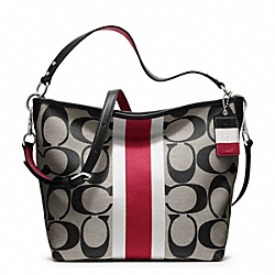 HAMPTONS WEEKEND SIGNATURE STRIPE SHOULDER BAG