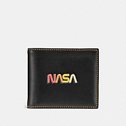 3-IN-1 WALLET WITH EMBOSSED SPACE - BLACK - COACH F10459