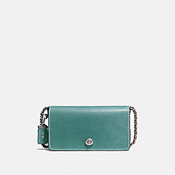 DINKY WITH COLORBLOCK SNAKESKIN - STEEL BLUE/LIGHT ANTIQUE NICKEL - COACH F10494
