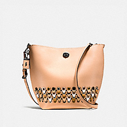DUFFLE SHOULDER BAG WITH COACH LINK DETAIL - BP/BEECHWOOD MULTI - COACH F10498