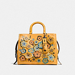 ROGUE WITH LINKED TEA ROSE - BP/GOLDENROD - COACH F10523