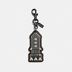 ROCKET BAG CHARM - SILVER/BLACK - COACH F10632