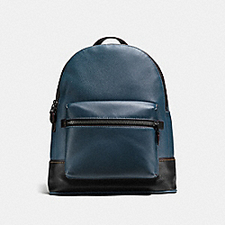 LEAGUE BACKPACK - DARK DENIM/BLACK COPPER FINISH - COACH F11105