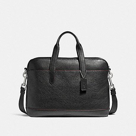 COACH HAMILTON BAG - NICKEL/BLACK/OXBLOOD - f11319