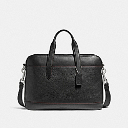 COACH HAMILTON BAG - NICKEL/BLACK/OXBLOOD - F11319