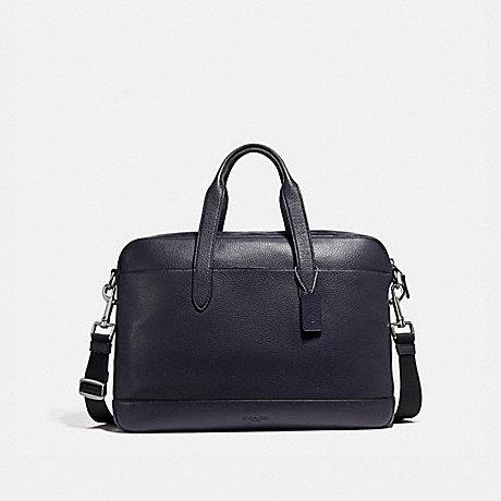 COACH f11319 HAMILTON BAG NICKEL/MIDNIGHT NAVY/BLACK