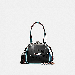 KISSLOCK FRAME BAG 23 WITH SPACE - LH/BLACK - COACH F11338