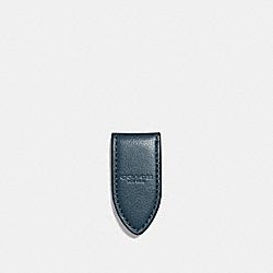 COACH LEATHER MONEY CLIP - DENIM - F11456