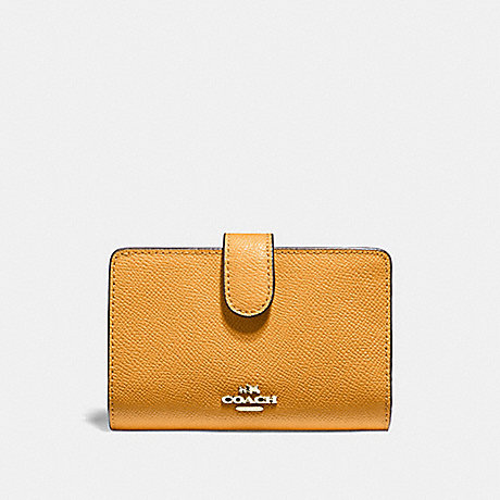 COACH MEDIUM CORNER ZIP WALLET - GOLDENROD/light gold - f11484