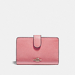 COACH MEDIUM CORNER ZIP WALLET - Vintage Pink/Imitation Gold - F11484