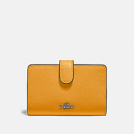 COACH MEDIUM CORNER ZIP WALLET - QB/YELLOW - F11484
