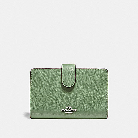 COACH MEDIUM CORNER ZIP WALLET - CLOVER/SILVER - f11484