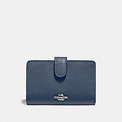 MEDIUM CORNER ZIP WALLET - DENIM/SILVER - COACH F11484