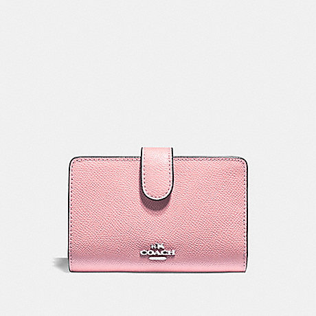 COACH MEDIUM CORNER ZIP WALLET - PETAL/SILVER - F11484
