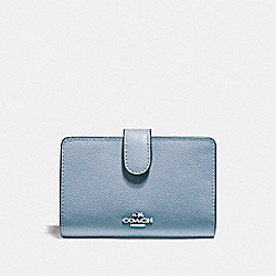 COACH MEDIUM CORNER ZIP WALLET - SILVER/DUSK 2 - F11484