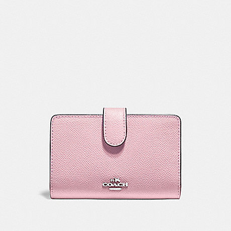 COACH MEDIUM CORNER ZIP WALLET - CARNATION/SILVER - F11484