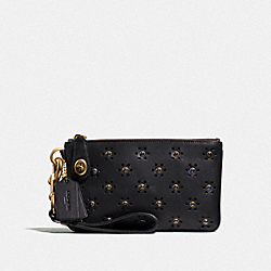 TURNLOCK WRISTLET 21 WITH WHIPSTITCH EYELET - OL/BLACK - COACH F11749