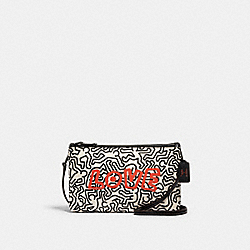 KEITH HARING LYLA CROSSBODY WITH GRAPHIC PRINT - QB/CHALK/BLACK - COACH F11773