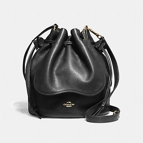 COACH f11807 PETAL BAG 22 IN PEBBLE LEATHER LIGHT GOLD/BLACK