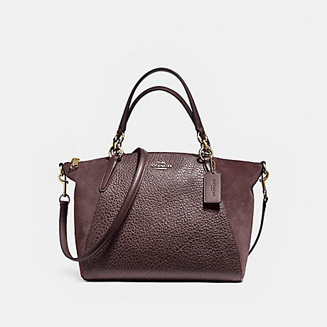 COACH SMALL KELSEY SATCHEL IN MIXED MATERIALS - LIGHT GOLD/OXBLOOD 1 - f11832