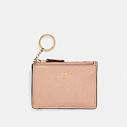 MINI SKINNY ID CASE - NUDE PINK/IMITATION GOLD - COACH F11836