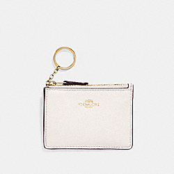 MINI SKINNY ID CASE - CHALK/IMITATION GOLD - COACH F11836