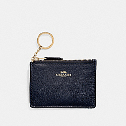 COACH MINI SKINNY ID CASE - MIDNIGHT/light gold - F11836
