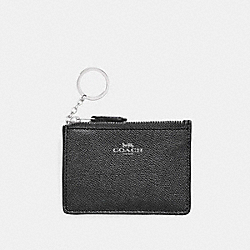 COACH MINI SKINNY ID CASE - SILVER/BLACK - F11836