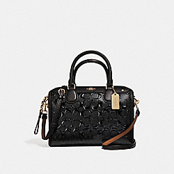 MINI BENNETT SATCHEL - MIDNIGHT/IMITATION GOLD - COACH F11920