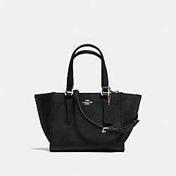 COACH CROSBY CARRYALL 21 IN CROSSGRAIN LEATHER - LIGHT GOLD/BLACK - F11925