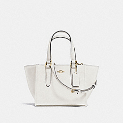 COACH CROSBY CARRYALL 21 IN CROSSGRAIN LEATHER - IMITATION GOLD/CHALK - F11925