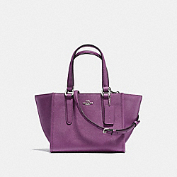CROSBY CARRYALL 21 IN CROSSGRAIN LEATHER - f11925 - SILVER/MAUVE
