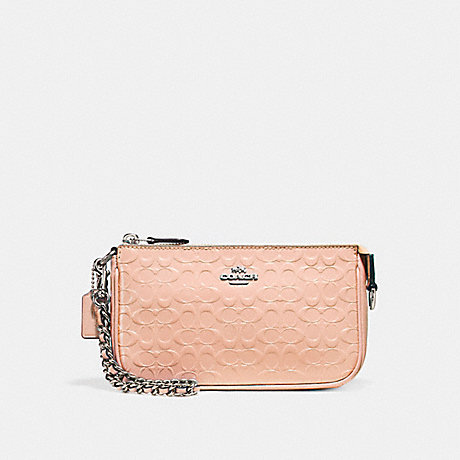 COACH LARGE WRISTLET 19 - SILVER/LIGHT PINK - f11940