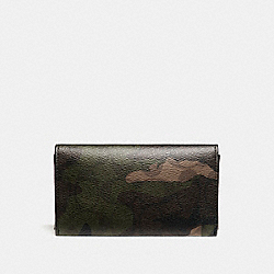 COACH UNIVERSAL PHONE CASE IN SIGNATURE CAMO COATED CANVAS - MAHOGANY/DARK GREEN CAMO - F12000