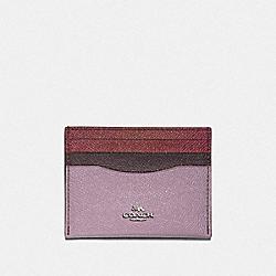 CARD CASE IN COLORBLOCK - SV/JASMINE MULTI - COACH F12070