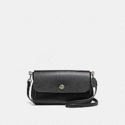 REVERSIBLE CROSSBODY - BLACK/CHALK/SILVER - COACH F12106