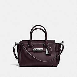 COACH SWAGGER 27 - OXBLOOD BLACK/DARK GUNMETAL - COACH F12111