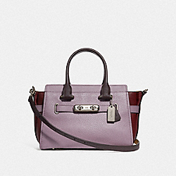 COACH SWAGGER 27 IN COLORBLOCK - SV/JASMINE MULTI - COACH F12120