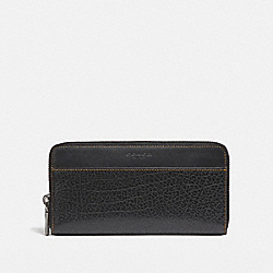COACH ACCORDION WALLET - BLACK - F12130