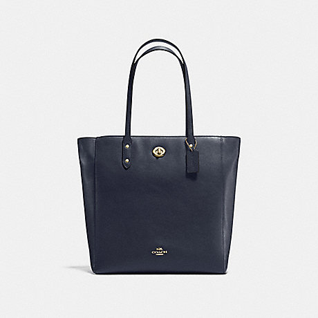 COACH f12184 TOWN TOTE LIGHT GOLD/MIDNIGHT