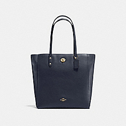 COACH F12184 - TOWN TOTE LIGHT GOLD/MIDNIGHT