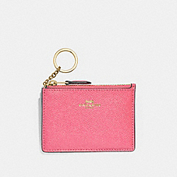 MINI SKINNY ID CASE - STRAWBERRY/IMITATION GOLD - COACH F12186