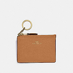 MINI SKINNY ID CASE - LIGHT SADDLE/GOLD - COACH F12186