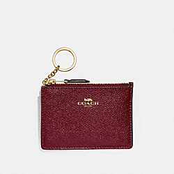 MINI SKINNY ID CASE - WINE/IMITATION GOLD - COACH F12186