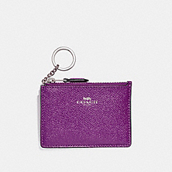 COACH MINI SKINNY ID CASE - SILVER/BERRY - F12186