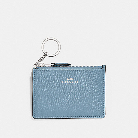 COACH MINI SKINNY ID CASE - CORNFLOWER/SILVER - F12186