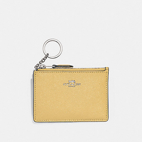COACH MINI SKINNY ID CASE - LIGHT YELLOW/SILVER - F12186