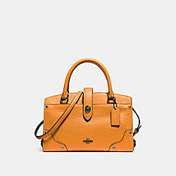 MERCER SATCHEL 24 IN COLORBLOCK - AMBER/CHESTNUT/DARK GUNMETAL - COACH F12589