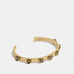 TEA ROSE OPEN CUFF - GOLD - COACH F12756