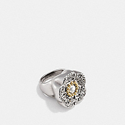 TOOLED RING - f12759 - SILVER